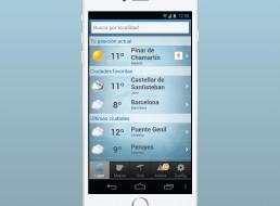 La predicción del tiempo en plataforma App
